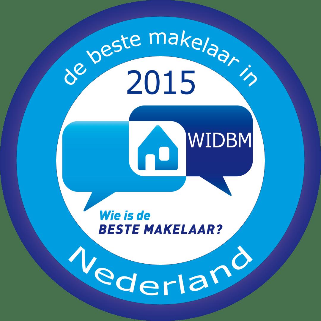 WIDBM beste makelaar 2015 - Beste makelaar van Nederland