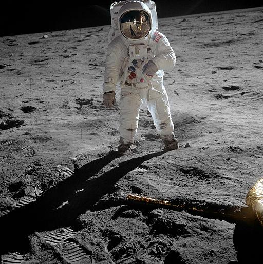 Buzz Aldrin op de maan