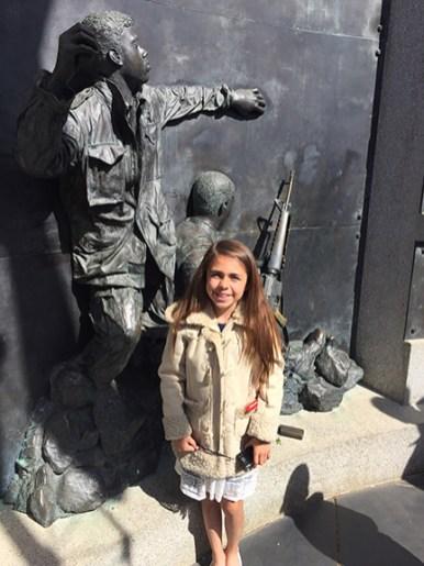Ava at Vietnam War Memorial, Sacramento, CA