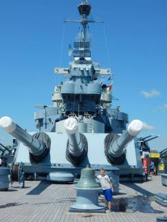 Justin visiting the USS North Carolina
