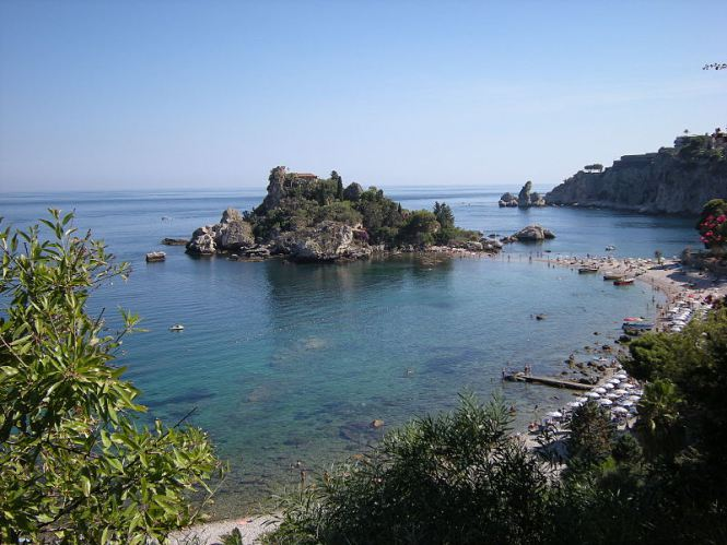 praia em Taormina