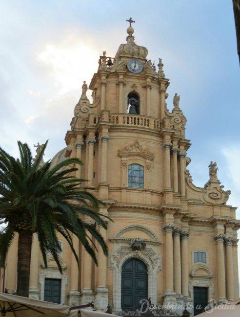 Catedral de San Giorgio (São Jorge), principal igreja de Ragusa e bem Patrimônio Mundial da Humanidade Unesco