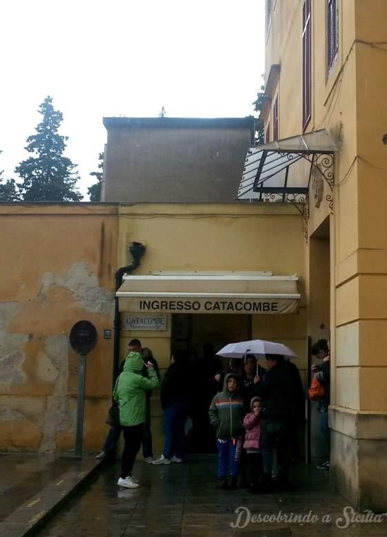 Entrada das Catacumbas de Palermo