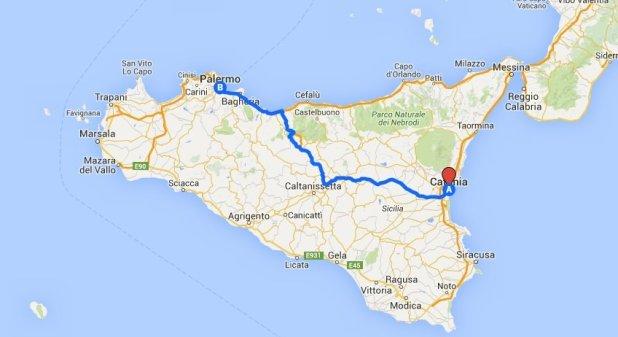 Como ir de Catania a Palermo