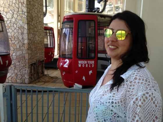 Funicular em Taormina - Foto: Luana Camargo