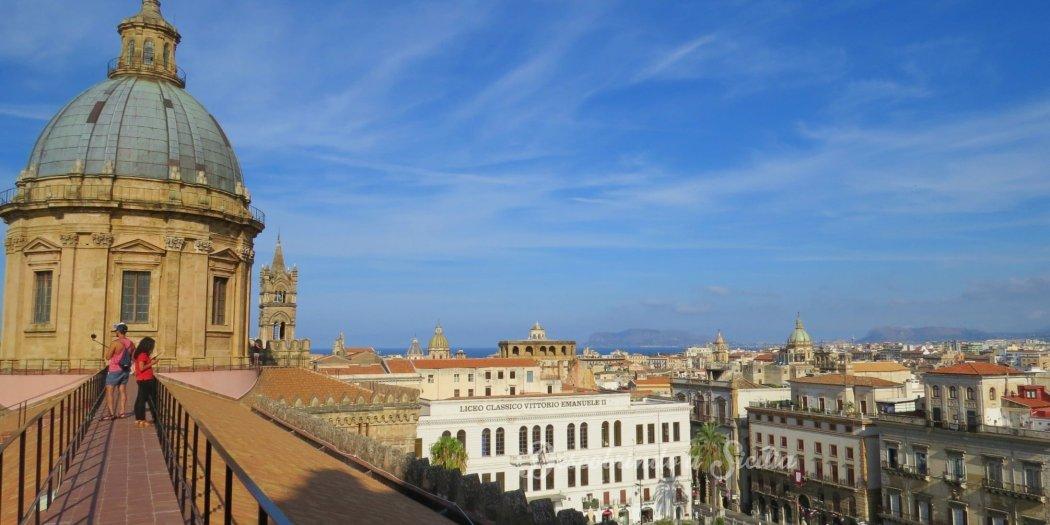 Palermo do alto - do terraço da catedral