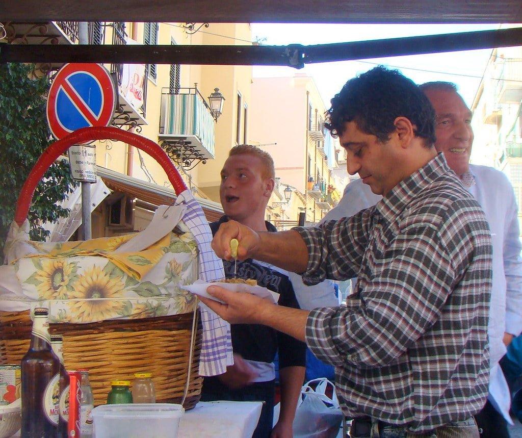 Comidas bizarras da Sicília - frittola