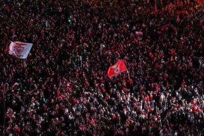 Benfica comemora no Marquês