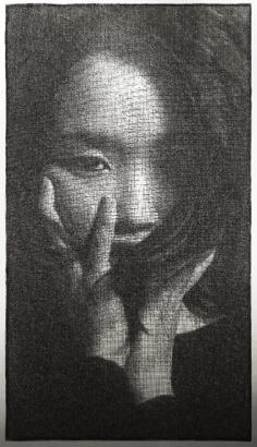 Park Seung Mo retrato con alambre 6