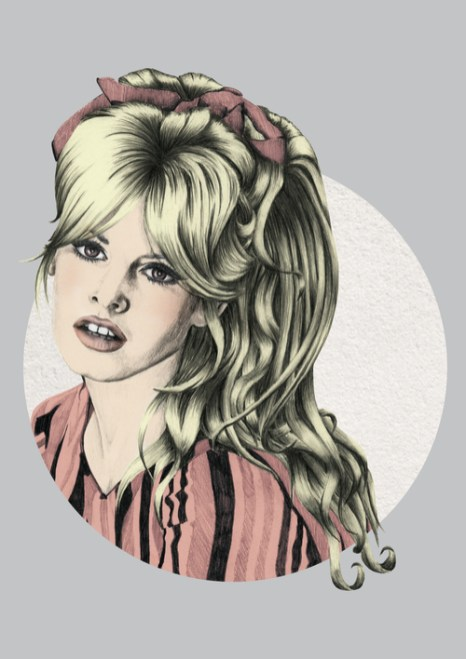 Veriette Illustration - Brigitte Bardot