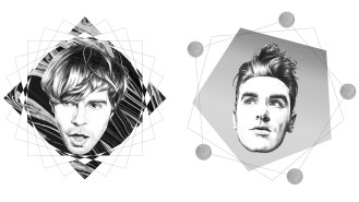 Veriette Illustration - Tim Burgess and Morrissey