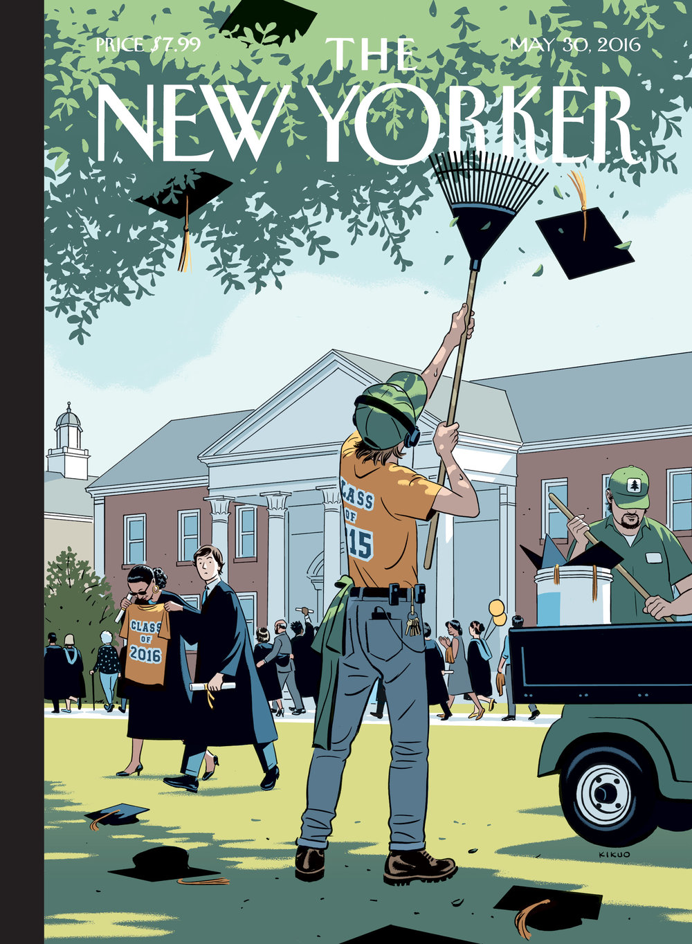 R Kikuo Johnson - Commencement - New Yorker