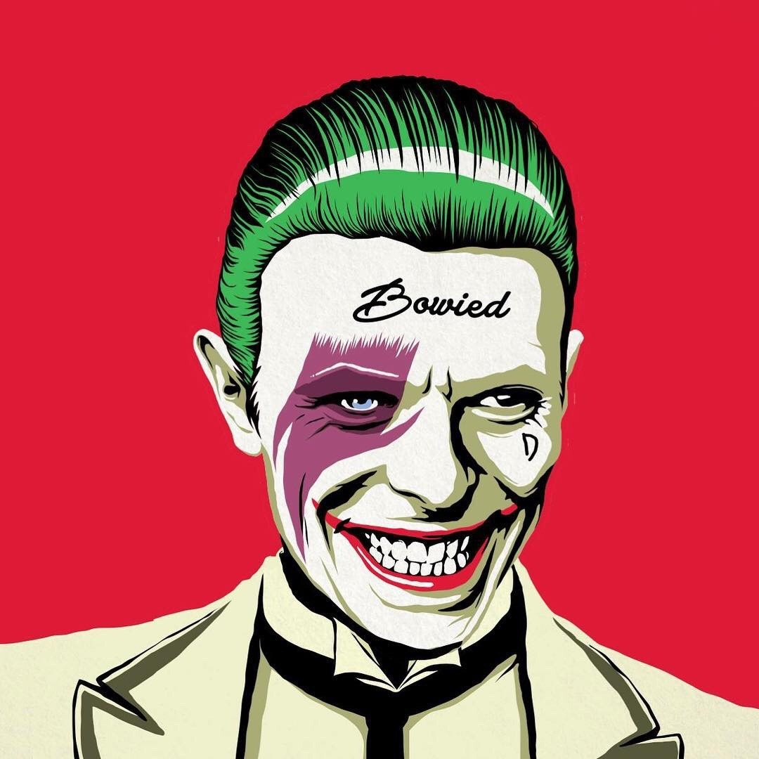 Bowled- David Bowie as the Joker