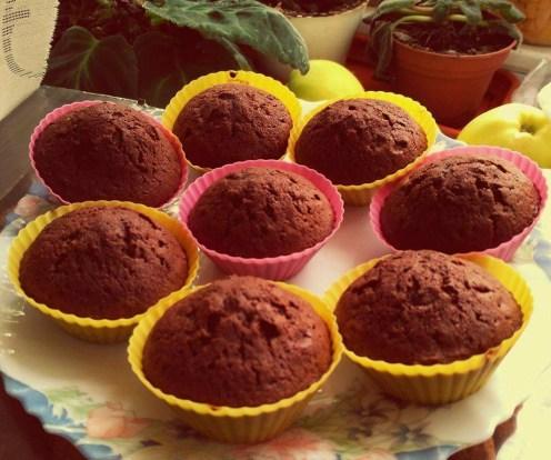 Muffins de ciocolată fără glazură