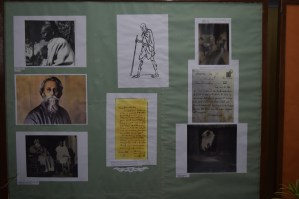 Rabindra nath Tagore & Mahatma Gandhi.......