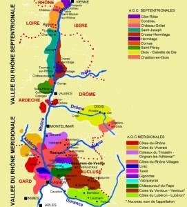 Carte des regions viticoles de la Vallee du Rhone C M.CRIVELLARO - Carte-des-regions-viticoles-de-la-Vallee-du-Rhone-C-M.CRIVELLARO