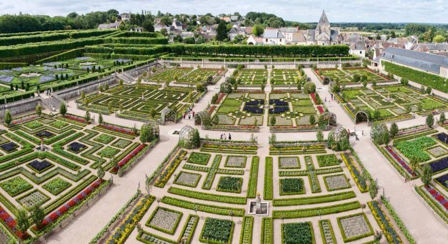 Castelos do Vale do Loire, Villandry e seus jardins