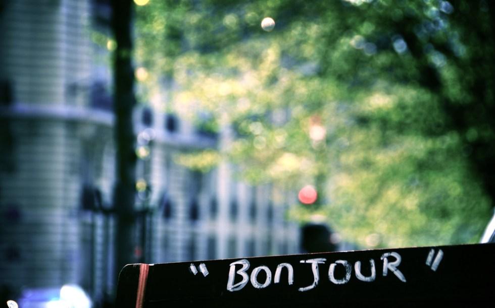 A língua francesa, frases e expressões úteis para sua viagem, Bonjour