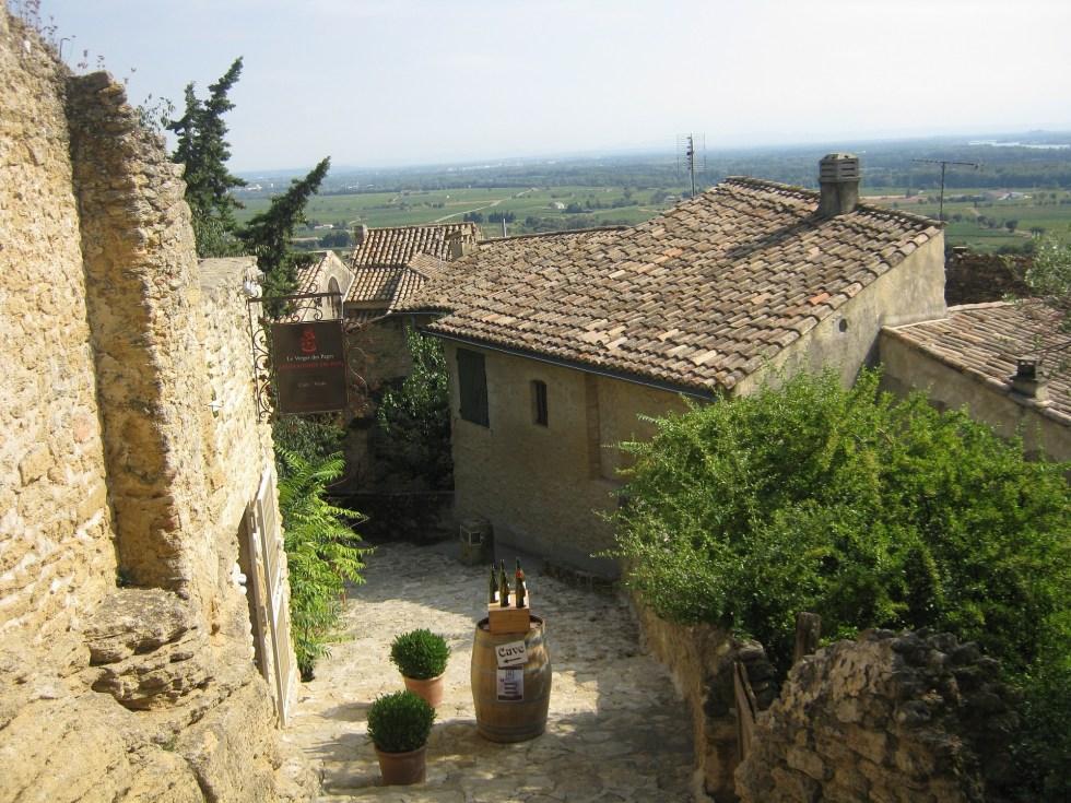 Chateauneuf-du-Pape, vinhedos do Vale do Rhône Meridional