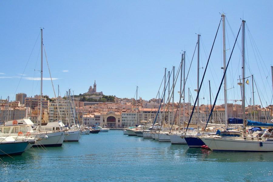 Porto de Marselha, sul da França
