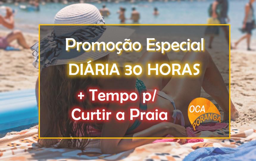 Promoção Diária Estendida 30 Horas Oca Poranga Pousada Guarujá