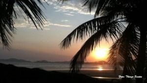 por do sol praia da enseada guaruja