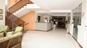 Recepcao do Hotel Ilhas do Caribe - Praia da Enseda no Guaruja SP