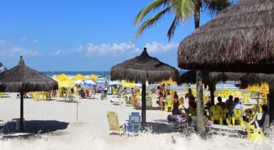 Servico de Praia Hotel Ilhas do Caribe Praia da Enseada Guaruja
