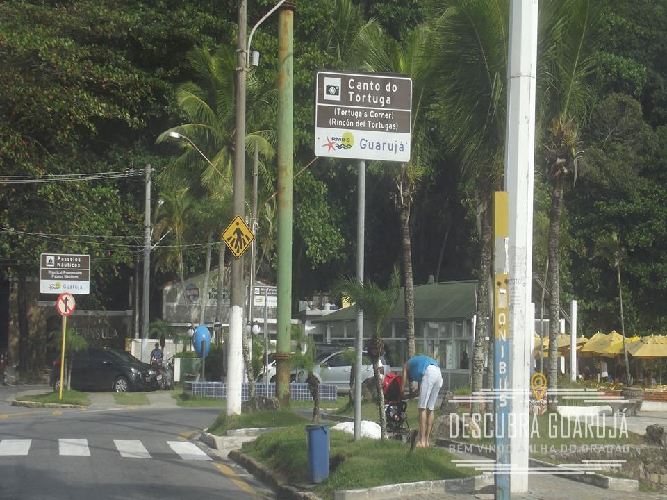 Canto do Tortuga - Praia da Enseada em Guaruja
