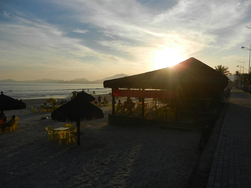 Quiosques da Praia da Enseada no Guaruja