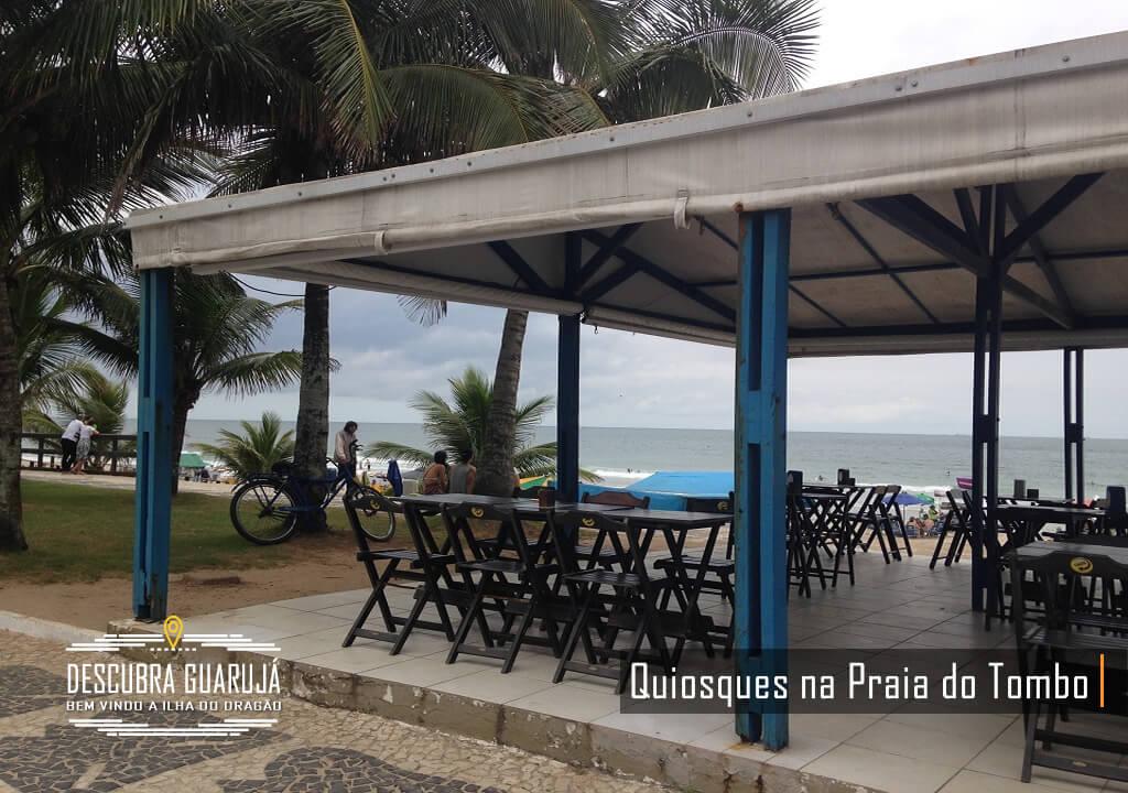 Quiosques na Praia do Tombo Guarujá
