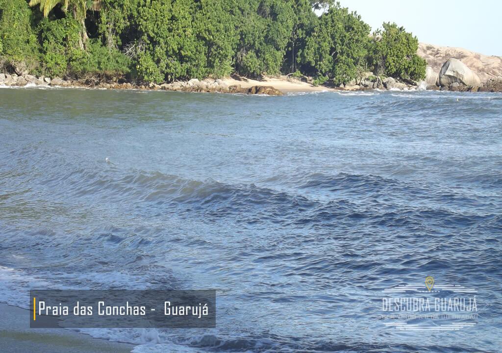Mar da Praia de Conchas Guarujá
