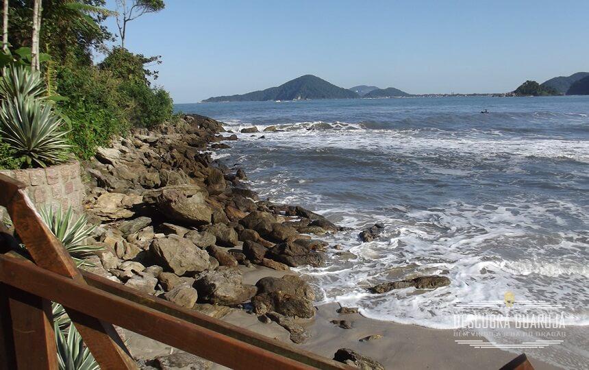 Vista Canto da Praia de São Pedro Guarujá