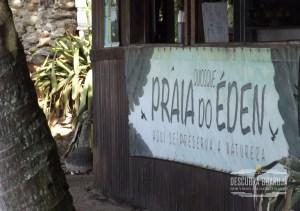 Quiosque na Praia do Éden em Guarujá