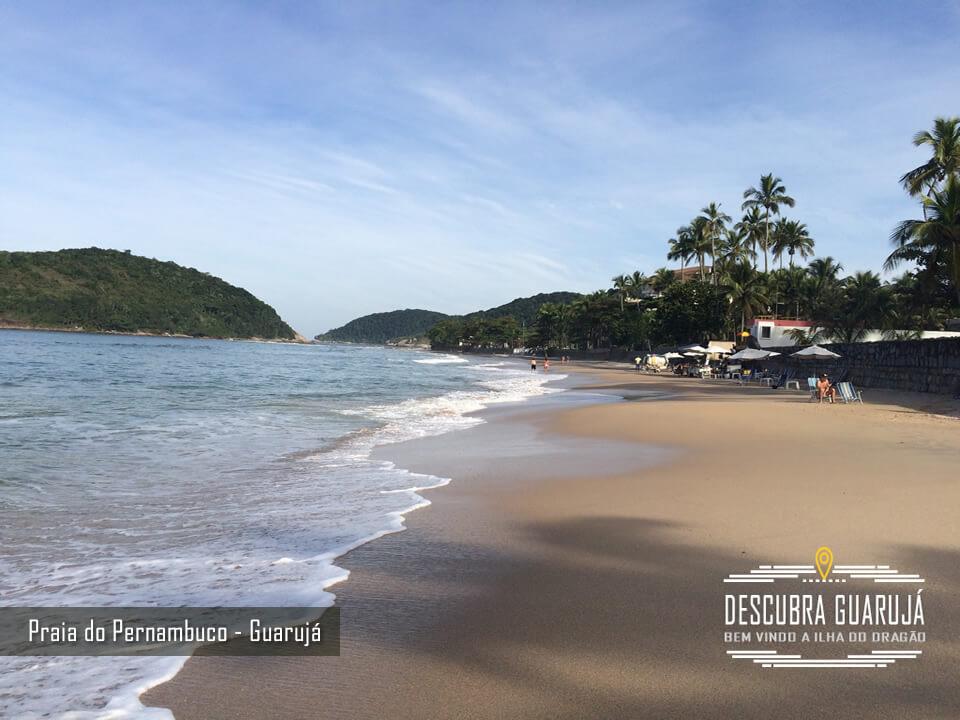 A Praia de Pernambuco no Guarujá - SP