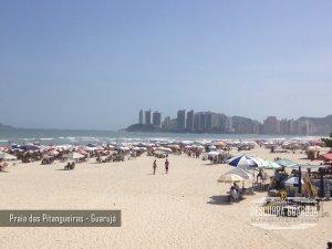 A Praia de Pitangueiras Guaruja SP Litoral Paulista