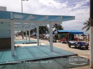 Novos Quiosques da Praia da enseada no Guarujá sp