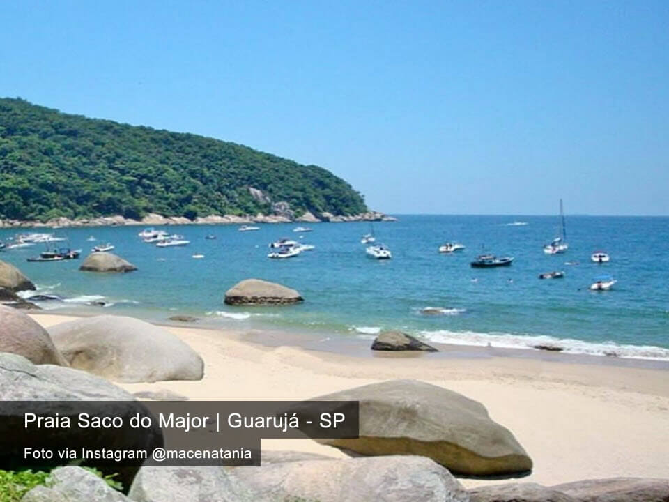 Praia Saco do Major Guarujá