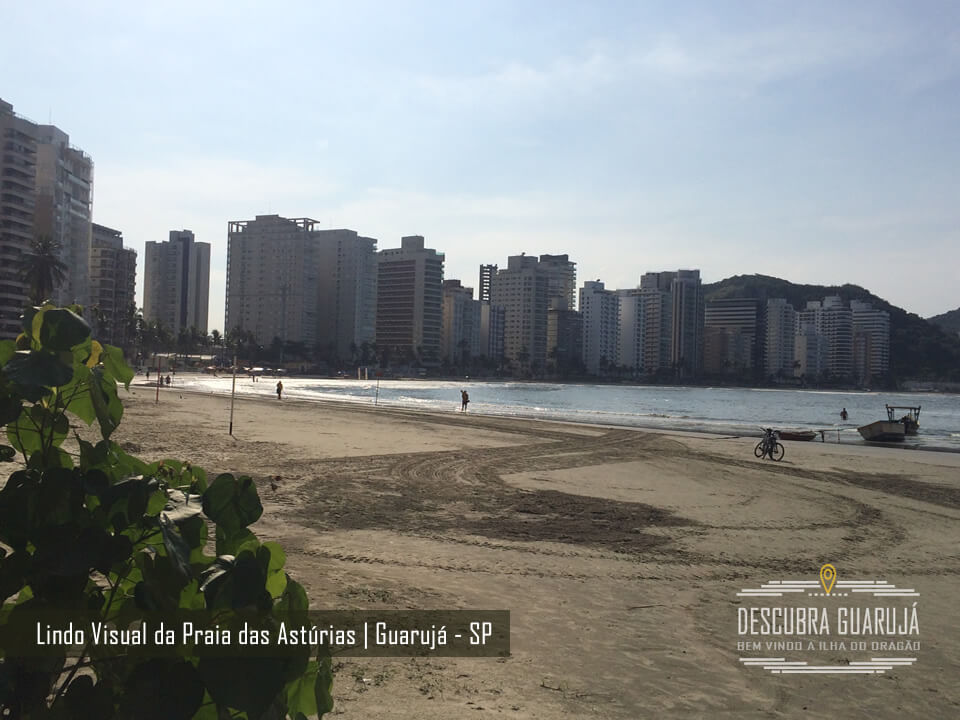 Lindo Visual da Praia das Astúrias - Guarujá SP