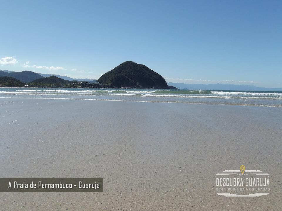 Praia de Pernambuco em Guarujá - Vista do Mar