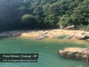 Praia do Moisés Guarujá - FT Instagram @sandragiocondo