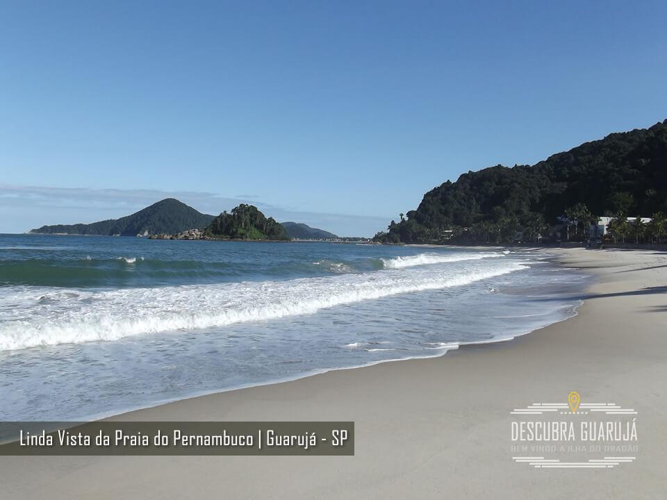 Vista lado Direito Praia de Pernambuco no Guarujá