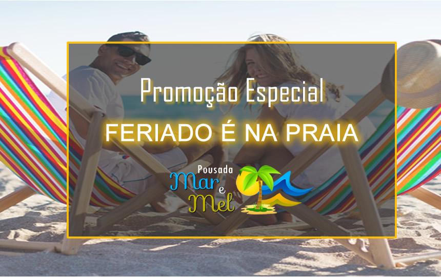 Banner Promo Feriado Pousada Mar e Mel Guarujá