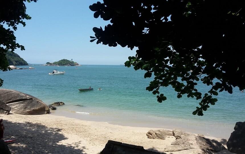 Bela Praia do Sangava em Guarujá