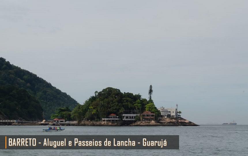 Passeio de Lancha pelas Ilhas e Praias do Guarujá SP