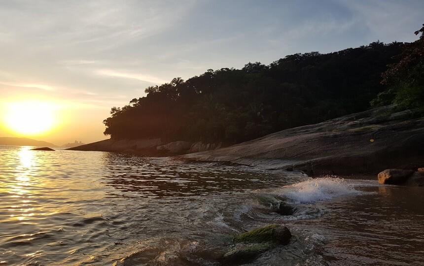 Praia do Sangava Guarujá SP