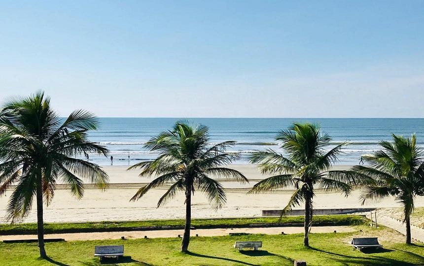 Praia Centro de Peruíbe Litoral SP