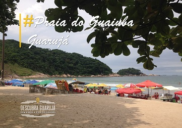 Praia do Guaiuba no Guarujá - SP