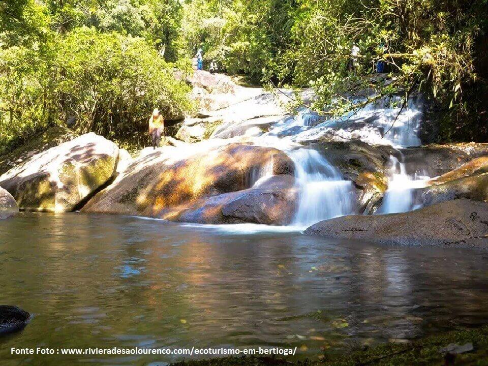 Cachoeira da Praia de Guaratuba em Bertioga