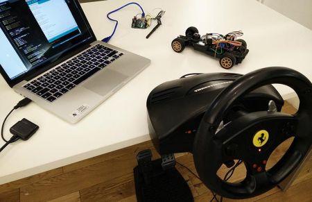 cocherc-arduino-450x291 Conduce un coche de radio control con mando de volante USB con Arduino